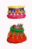 Dois sacos do presente de Santa Imagens de Stock Royalty Free