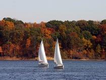 Dois SailBoats Fotografia de Stock