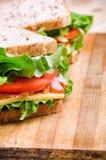 Dois sanduíches Alimento Alimento fresco & saudável Conceito fotos de stock royalty free
