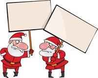 Dois Santa irritada Imagem de Stock