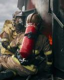 Dois sapador-bombeiro, Dublin, Irlanda foto de stock royalty free