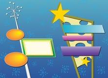 Dois sinais de anúncio retros ilustração do vetor