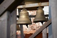 Dois sinos de bronze Fotografia de Stock Royalty Free