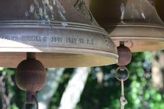 Dois sinos de igreja Fotos de Stock Royalty Free