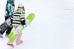 Dois snowboarders imagem de stock