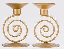 Dois suportes de vela Imagem de Stock Royalty Free