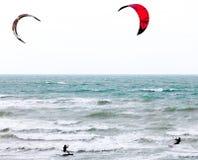 Dois surfistas do papagaio Imagem de Stock
