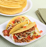 Dois Tacos imagens de stock