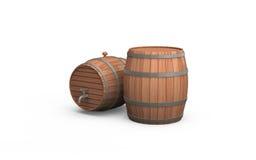 Dois tambores de madeira Imagem de Stock