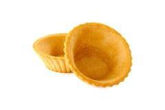 Dois tartlets no branco Imagem de Stock Royalty Free