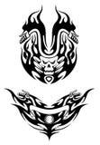Dois tatuagens tribais da bicicleta Imagens de Stock Royalty Free