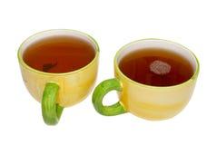 Dois teacups com chá fotos de stock royalty free