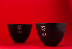 Dois teacups japoneses Imagem de Stock