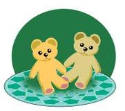 Dois Teddy Bears pequeno Fotografia de Stock