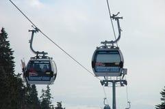 Dois teleféricos Fotos de Stock Royalty Free