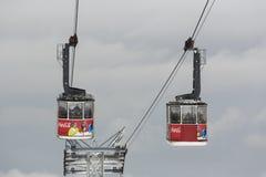 Dois teleféricos Imagem de Stock Royalty Free