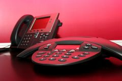 Dois telefones Foto de Stock Royalty Free