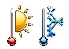 Dois termômetros Ilustração do Vetor