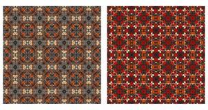 Dois testes padrões abstratos sem emenda Fotografia de Stock