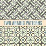 Dois testes padrões sem emenda árabes Imagens de Stock Royalty Free