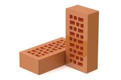 Dois tijolos ilustração do vetor