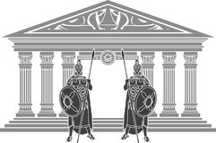 Dois titã e templos de atlantis Fotografia de Stock