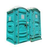 Dois toaletes portáteis Imagens de Stock Royalty Free