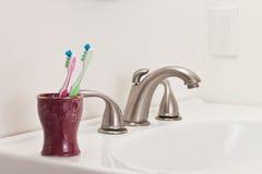 Dois Toothbrushes Imagens de Stock