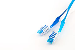 Dois toothbrushes imagens de stock royalty free