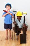 Dois trabalhadores da construção Fotografia de Stock Royalty Free