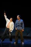 Dois um guarda de noite que percorre a ópera de Jiangxi uma balança romana Imagens de Stock