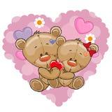 Dois ursos Imagens de Stock Royalty Free