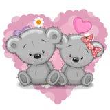 Dois ursos ilustração stock
