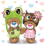 Dois ursos bonitos ilustração royalty free