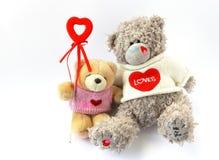 Dois ursos com coração Fotos de Stock