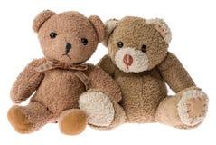 Dois ursos da peluche. Imagens de Stock