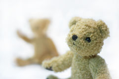 Dois ursos de peluche Foto de Stock Royalty Free