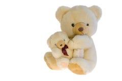 Dois ursos de peluche do brinquedo junto. Imagens de Stock Royalty Free