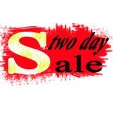 dois - venda do dia!!! ilustração stock