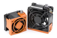 Dois ventiladores do server do Quente-Plugue Foto de Stock Royalty Free