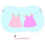 Dois vestidos Fotos de Stock Royalty Free