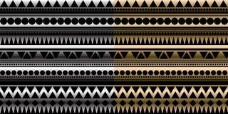 Dois vetor sem emenda, textura gometric Foto de Stock
