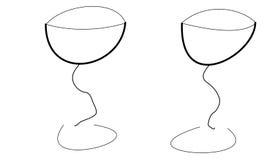Dois vidros Fotos de Stock