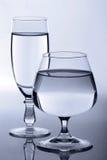Dois vidros fotografia de stock