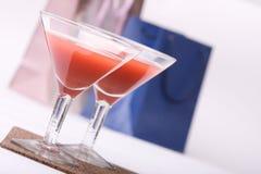 Dois vidros & noite-partidos Fotografia de Stock Royalty Free