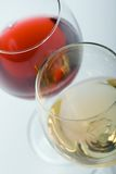 Dois vidros com vinho Fotografia de Stock