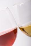 Dois vidros com vinho Foto de Stock Royalty Free