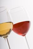Dois vidros com vinho Imagens de Stock Royalty Free