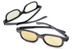 Dois vidros 3D Imagens de Stock Royalty Free