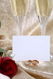 Dois vidros de Champagne Foto de Stock Royalty Free